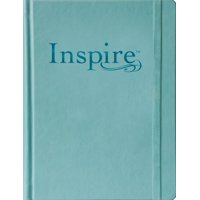 Inspire Bible Large Print NLT (Hardcover LeatherLike, Tranquil Blue) : The Bible for Coloring & Creative Journaling