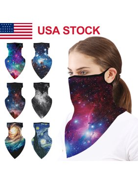 US Multi-use Balaclava Tube Scarf Bandana Face Mask Neck Gaiter Earloop Headwear Headband Bandana Outdoor Sports Motorcycle Bike Cycling 8 Color