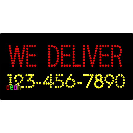 Deliver Neon Sign - 12