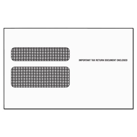 tops double window tax form envelope/w2 laser forms,5 5/8 x 9, 50/pk