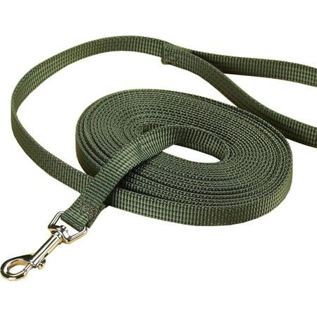 Hamilton Pet Company-Nylon Training Lead- Olive 5/8 In X 20 Ft