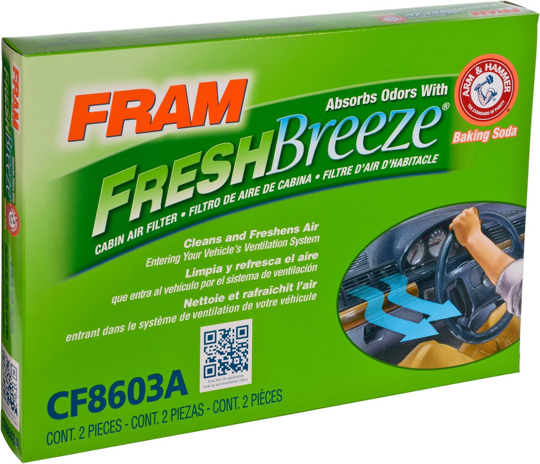 FRAM Fresh Breeze Cabin Air Filter, CF8603A