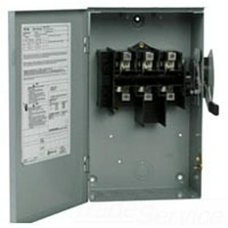 - DG223UGB - DG221UGB NEMA SIZE 1 GENERAL DUTY NON-FUSIBLE SAFETY SWITCH - TYPE DG - 2 POLE 240V 100 AMP