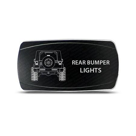 CH4x4 Rocker Switch Rear Bumper Ligths Symbol- Horizontal - White LED