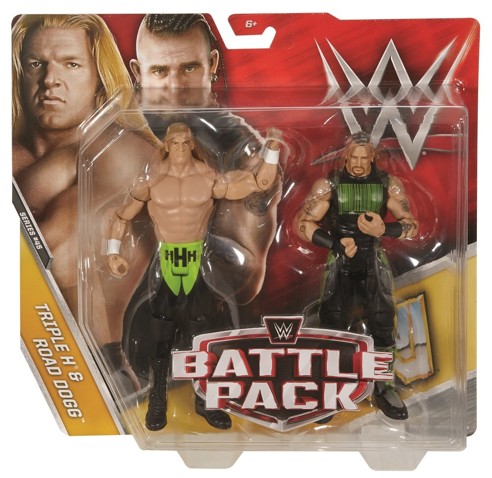 Triple H & Road Dogg WWE Mattel Battle Pack Series 45 Action Figures
