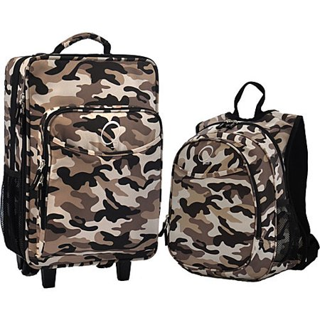 "Obersee Kids ""Camo"" 2-piece Backpack and Carry On Upright Luggage Set"