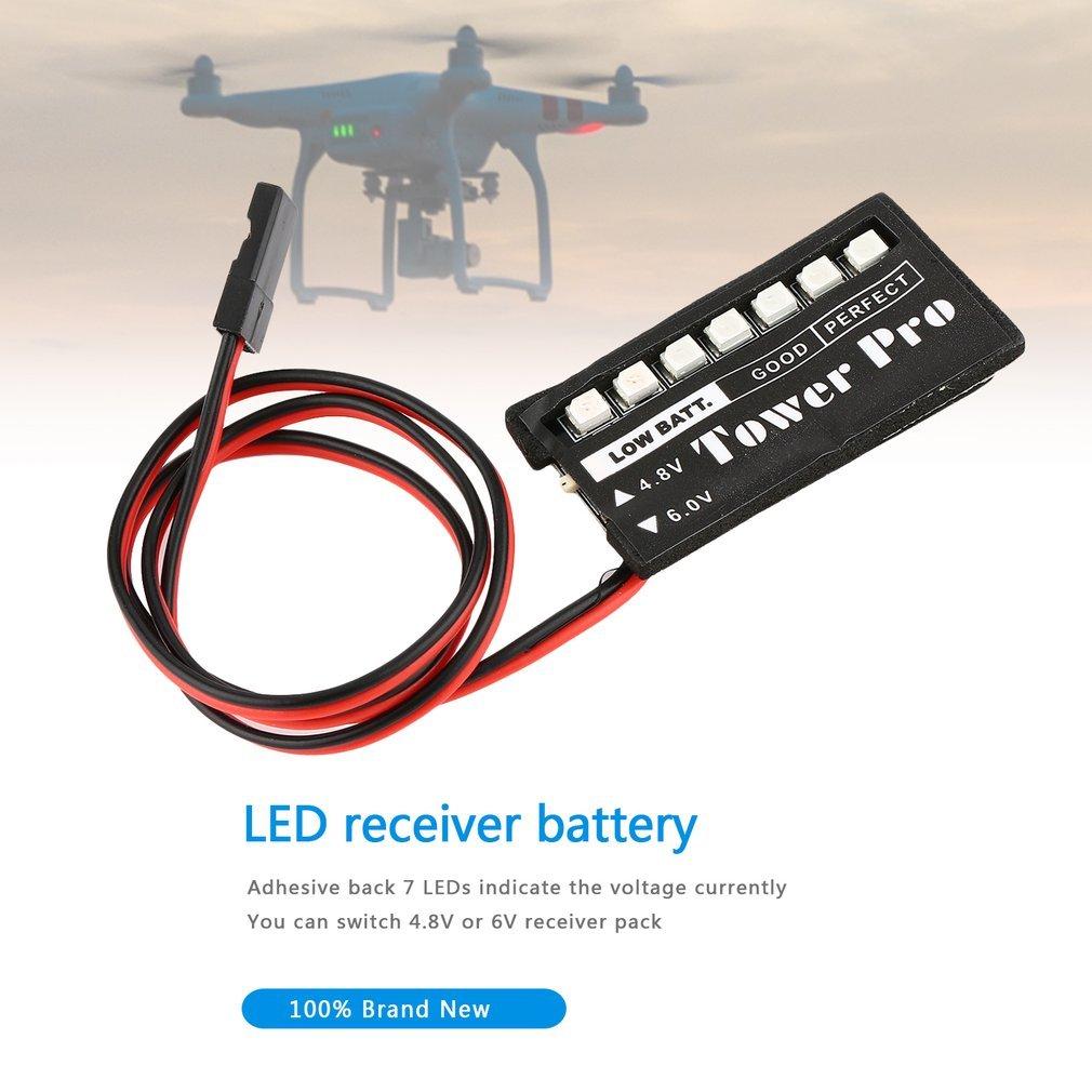 Cnmodle Rc Model 7 Led Receiver Battery Voltage Indicator Monitor Car Auto 7led 48v 6v Low