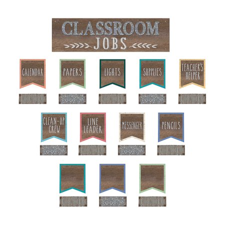 Fun Express - Home Sweet Classroom Jobs Bb Set - Educational - Classroom Decorations - Bulletin Board Decor - 49 - Classroom Classroom