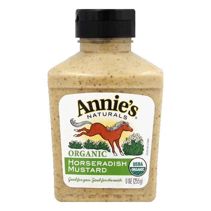 Annies Horseradish Mustard Natural Organic, 9 OZ (Pack of 12) by