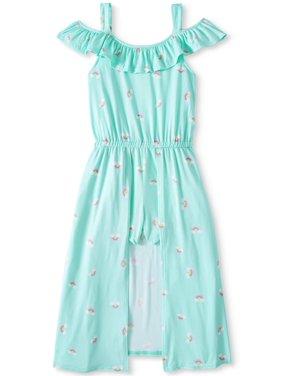6e3a70d26a0 Product Image Rainbow Cold Shoulder Walk-Thru Maxi Dress (Little Girls   Big  Girls)