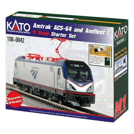 - Kato 1060042 N Amtrak ACS-64 Amfleet I Train-Only Starter Set (Phase VI Scheme)
