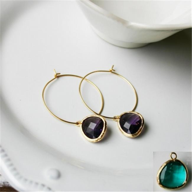Rebecca HLSGS Hoop Stone - Gold-Sapphire