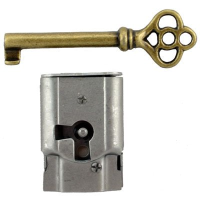 Steel Full Mortise Lock with Skeleton Key - Right Hand Doors and Drawers -