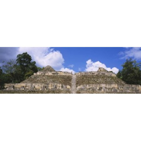 Old ruins of a temple El Caracol Cayo District Belize Poster Print