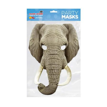 Elephant Facemask – Costume Accessory](Elephant Costume)