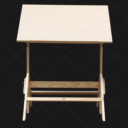 Ktaxon Pinewood Artist Drawing Table Drafting Table Desk Sketching Painting Drawing Board Studio Art Craft Station, Wood, Height Adjustable - image 2 de 7