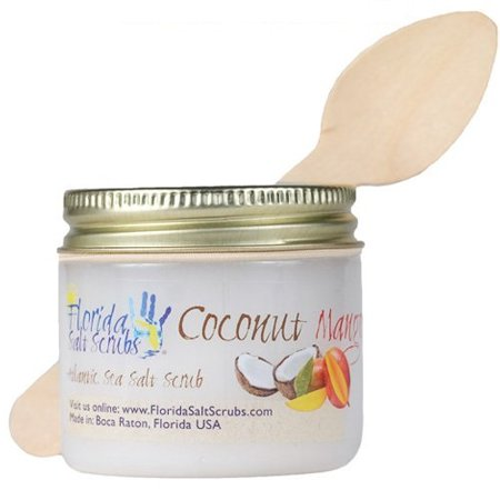 Florida Salt Scrubs Coconut Mango Body Feet Hands Bath Salt Scrub 2.9 oz