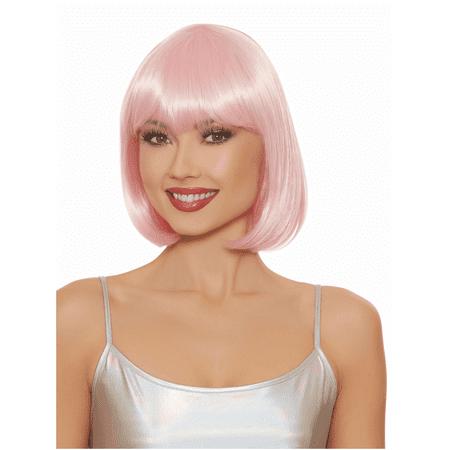 Women's Mid-Length Bob Wig - Short Pink Wigs