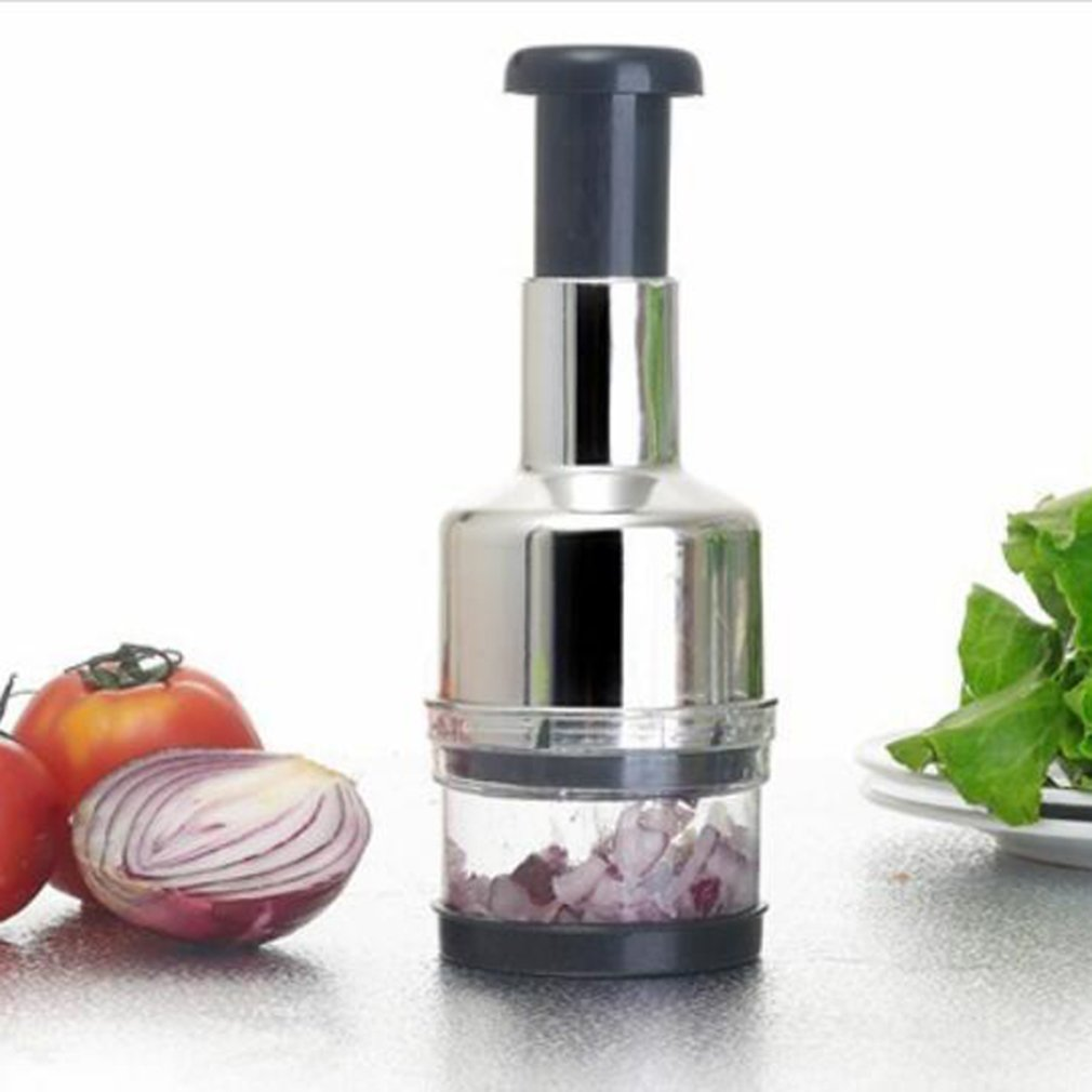Stainless Fruit Salad Vegetable Chopper Hand Press Cutter Slicer Peeler Dicer