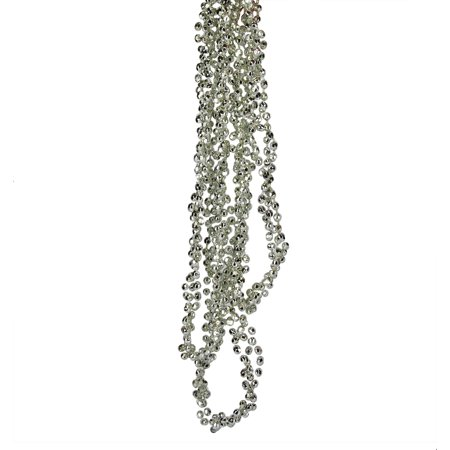 9 shiny silver beaded christmas garland - Beaded Christmas Garland