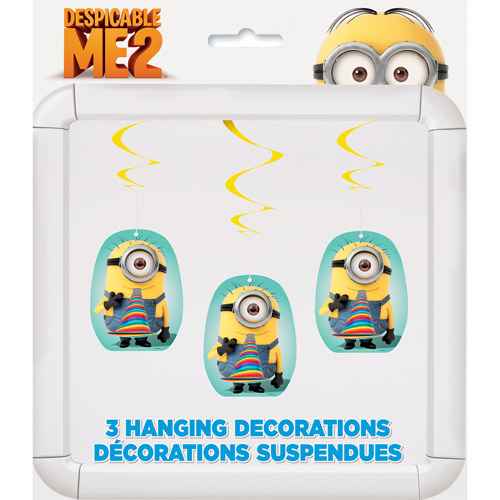 Despicable Me Hanging Swirl Decorations, 3pk