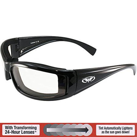 Global Vision Transition Stray Cat 24 Sunglasses With Clear to Smoke Anti-Fog Photochromic (Photochromic Motorcycle Sunglasses)