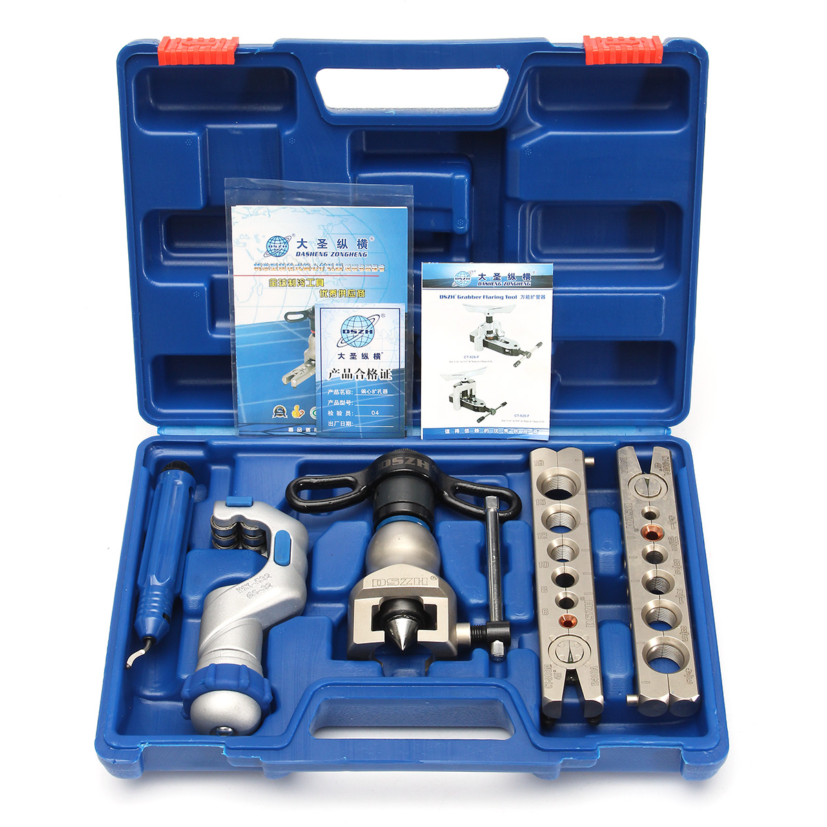 6-19mm Ratchet Flaring Flare Tool Kit Refrigeration Eccentric Cone + Pipe Cutter R806FT Hardness Flaring Kit