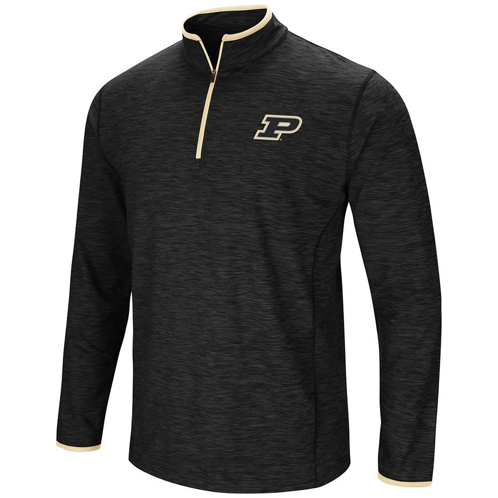Mens Purdue Boilermakers Quarter Zip Wind Shirt - S