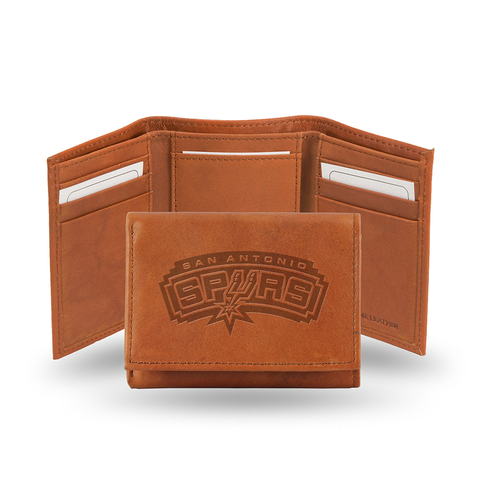 San Antonio Spurs  Tri-Fold Wallet (Pecan Cowhide)