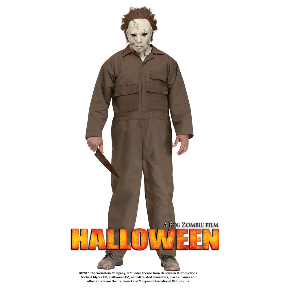 Michael Myers with Mask Men's Adult Halloween Costume, One Size, (44)