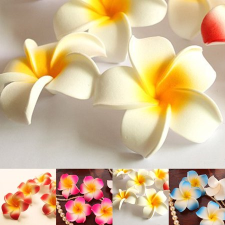 Holiday Clearance 10pcs 7cm DIY Artificial Silk Plumeria Rubra Flower Heads for Shoes Straw Hat Decor