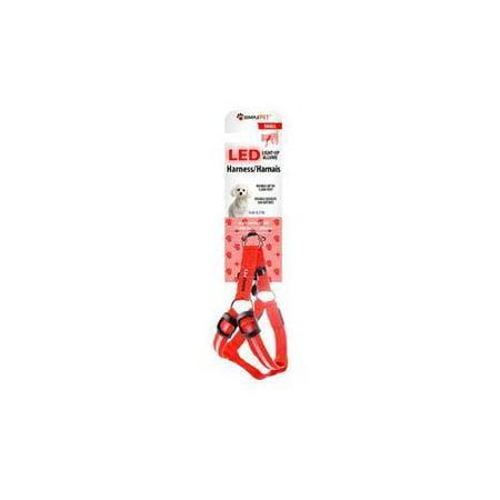 Xtreme Accessories LED harnais pour chien petit rouge XHC7-1001-ROUGE