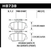 Hawk 14-15 Kia Rondo / 14-15 Kia Sorento LTS Street Front Brake Pads