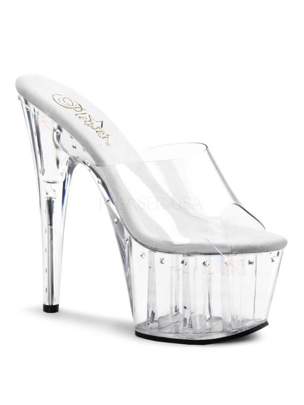 "ADO701LS/C/M Pleaser Platforms Exotic Dancing 7""-7 1/2"" Heel Shoes Size:10"