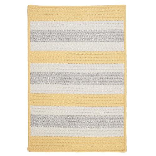 Colonial Mills Stripe It Yellow Shimmer Indoor/Outdoor Rug