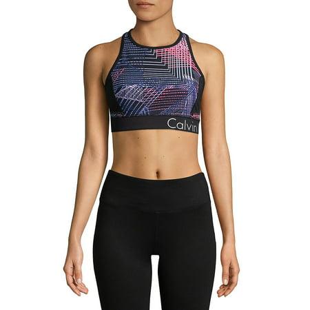 11148676946b Calvin Klein Performance - Connection-Print Racerback Sports Bra ...