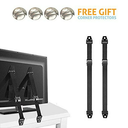 Furniture And Tv Anti Tip Straps 2 Pack For Baby Proofing Child Protection Adjustable Wall Anchor Safety Kit Secure Cabinets Bookshelf From
