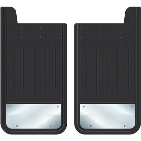 Plasticolor Heavy-Duty Rear Mud Guards, Plain Black