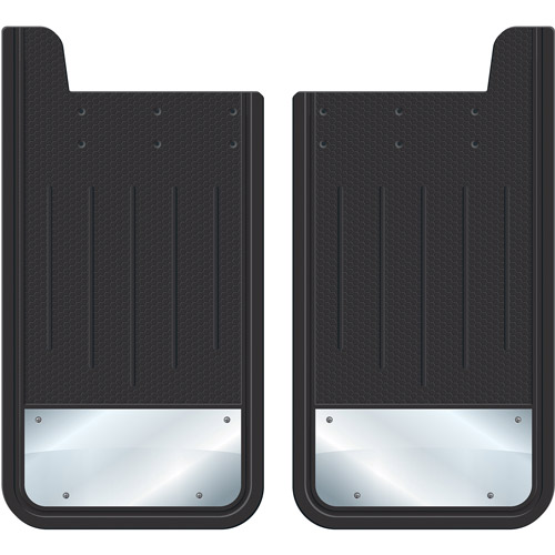 Plasticolor Heavy-Duty Rear Mud Guards, Plain Black