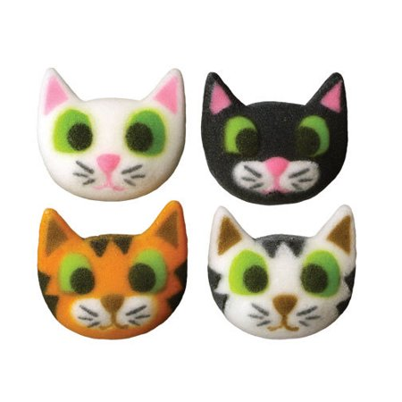 Kitten Cat Kitty Sugar Decorations Toppers Cupcake Cake Cookies Birthday Favors Party 12 Count