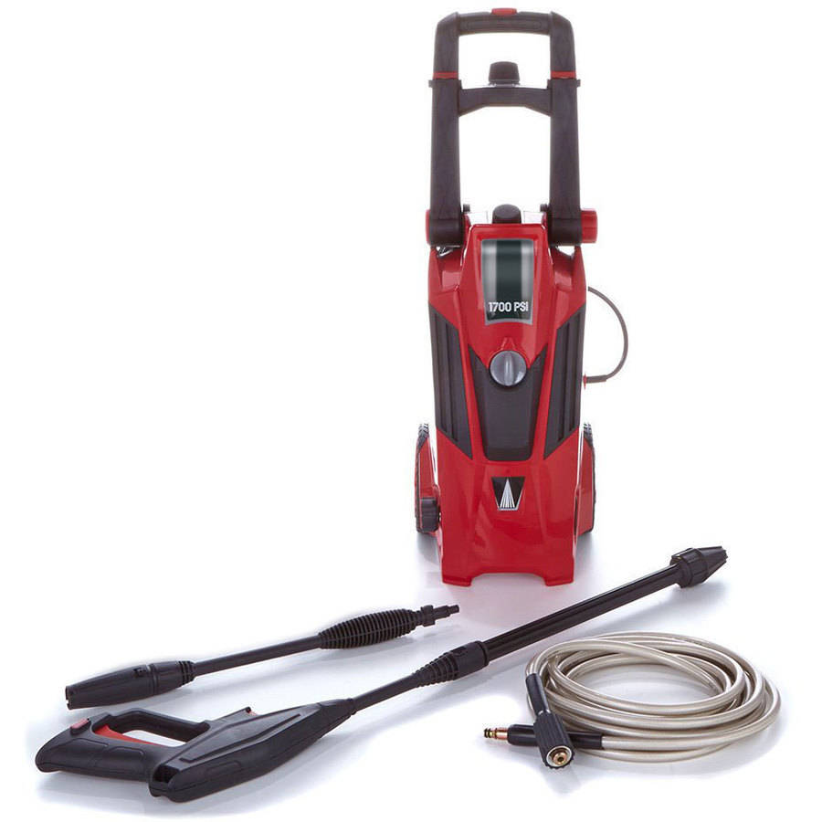 Earthwise Power Washer 1700 PSI Portable Pressure Washer-Red-Factory Remanufactured