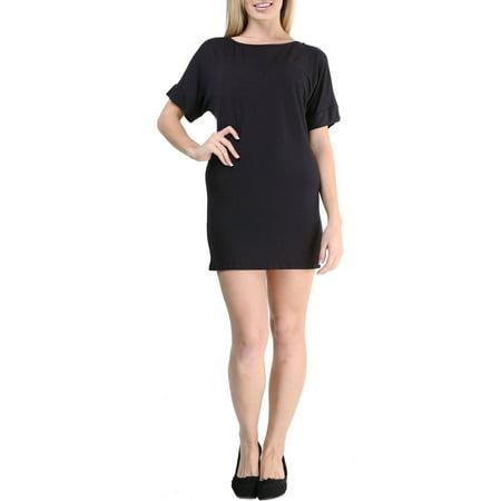 247 Comfort Apparel Womens Oversized T Shirt Dress Walmart