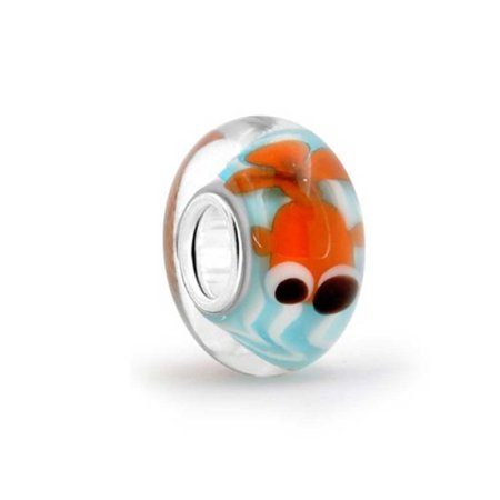 Bling Jewelry Sterling Silver Nautical Fish Murano Glass Bead Charm](Glass Bead Jewelry)