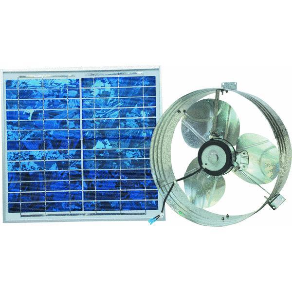Solar Powered Gable Mount Attic Vent