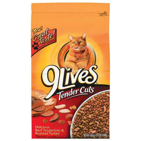 9 Lives Tender Cuts Beef Tenderloin Roasted Turkey Cat Food 35