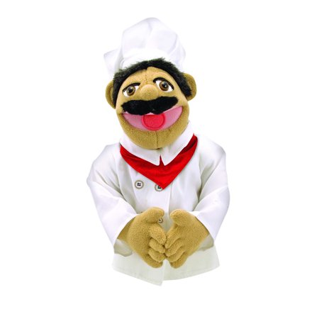 Melissa & Doug Chef Puppet With Detachable Wooden Rod for Animated Gestures ()