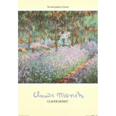 - The Artist's Garden at Giverny by Claude Monet 39x27 Art Print Poster Wall Decor Museum Masters Famous Painting