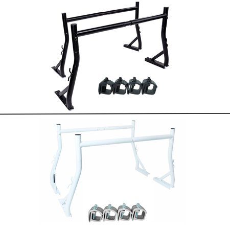 AA-Racks X35 Truck Rack with (8) Non-Drilling C-Clamps Pick-up Truck Utility Ladder Rack Matte Black (X35-8Clamp-BLK)