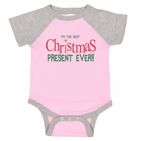 "Kids Cute Baseball Onesie ""I'm The Best Christmas Present Ever"