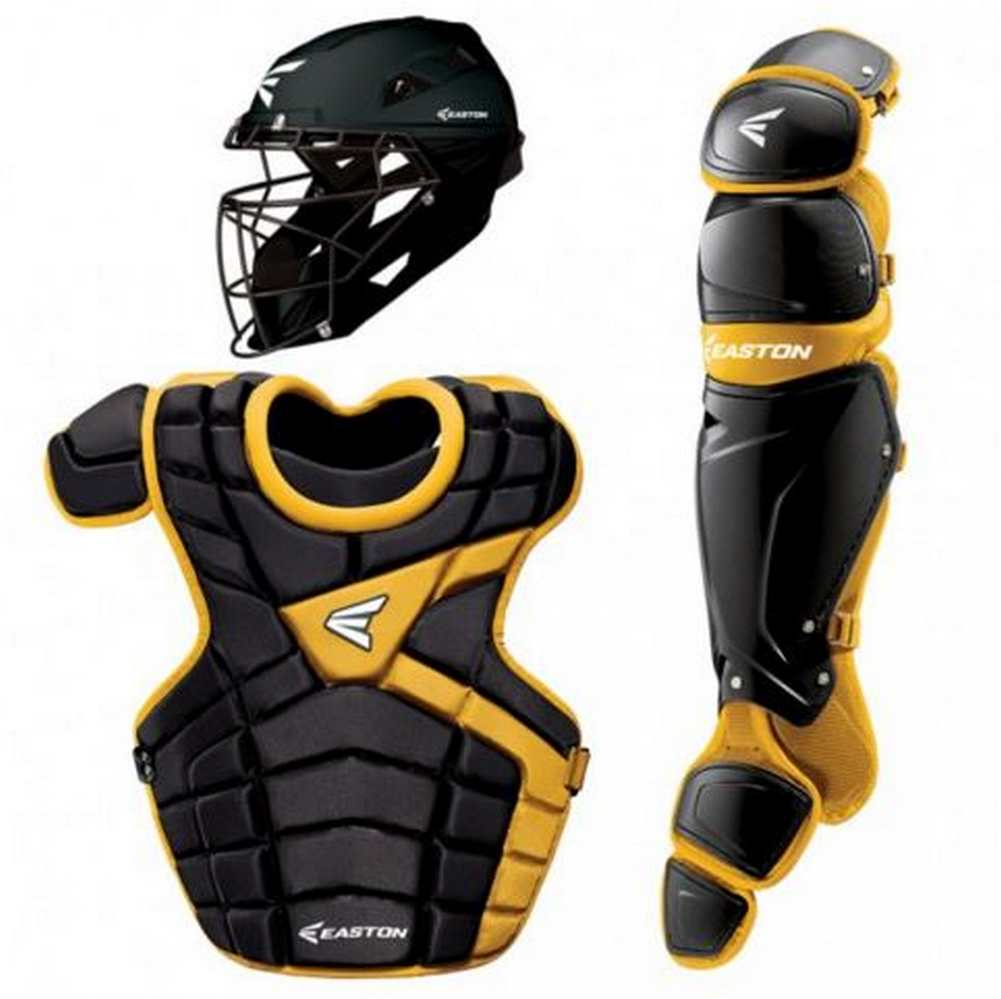 Easton Intermediate M10 Catchers Set Leg Guards Chest Protector & Helmet-A165340